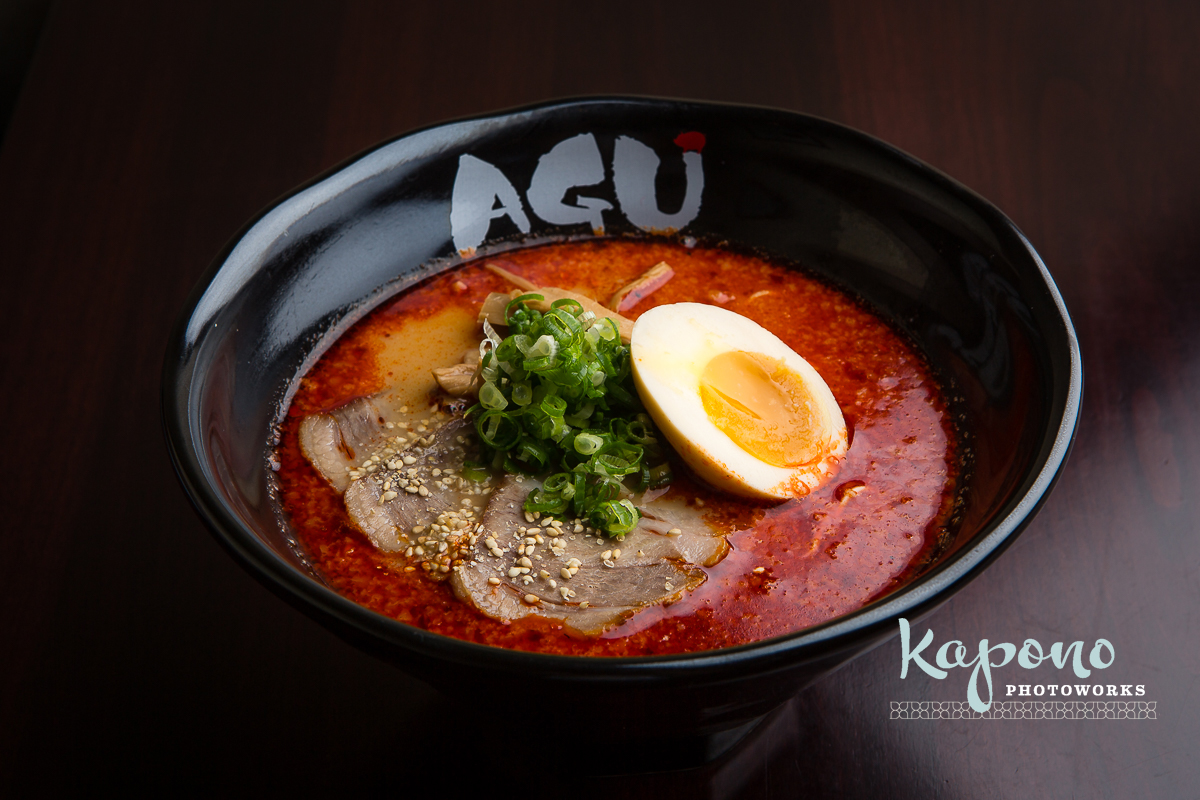 Kapono Photoworks » Hawaii Food PhotographyAgu Ramen Menu
